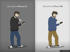 Life with an iPhone 3G vs. Life with an iPhone 4S #iphone #mobile #style #iphone4s #fashion #tech #smartphones