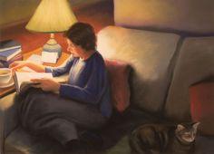 Deborah DeWitt, thinking, 2000.  Pastel, 20 x 28 in.  Private Coll.