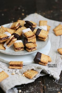 Mini Cookie Sandwiches | Bake to the roots