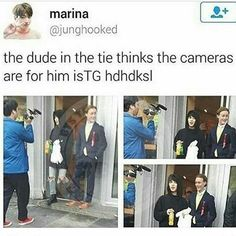 but look at jimin not even dressed up compared to that dude lmao sorry random dude but let the living meme through
