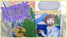 Create This Book Episode (Moriah Elizabeth) Bob Ross, Foot Painting a. Art Journal Prompts, Journal Ideas, Draw With Jazza, Sketchbook Tour, Create This Book, Drawing Prompt, Elizabeth Craft, Wreck This Journal, Bob Ross