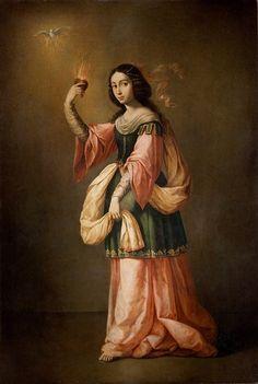 Francisco de Zurbarán Allegory of Charity, c. 1655 Museo del Prado, Madrid in…