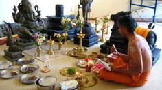 Learn 16 Step Puja Worship in Hindusim or Shodasa – Upachara Puja ~~~~~~~~~~~~~~~~~~~~~ 1.  Avahanam - Invocation 2.  Asanam - Seat 3.  Padyam - Water for Washing the Feet 4.  Arghyam - Water for Washing the Hands 5.  Acamaniyam - Water for Inner Purification 6.  Madhuparkam - Sweet 7.  Snanam - Bath ~~~~~~~~~~~~ https://www.pinterest.com/legacyofwisdom/legacy-of-wisdom/