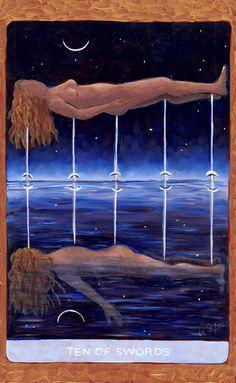Ten of Swords - Tarot de St. Croix, by Lisa de St. Croix