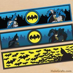 FREE Printable Batman Water Bottle Labels... Could be used for party drinks