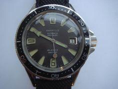 RARE-vintage-mens-Amaryllis-auto-date-ss-990ft-divers-watch-mint-condition