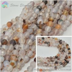 Magic Agate Faceted Round Beads Original Color 4mm ,6mm,8mm,10mm