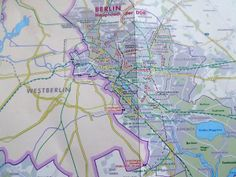 West Berlin in the map of GDR