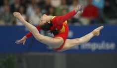 Cheng Fei (CHN) 2008. Getty Images. I'm so sad she will not be making her 3rd Olympics. :**(