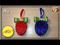 Как сделать шишку своими руками - шишка канзаши - МК, мастер-класс канзаши (рус) - YouTube