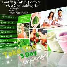 HERBALIFE NUTRITION 3 DAY TRIAL PACK #HERBALIFE #LOSE WEIGHT INF.INBOX