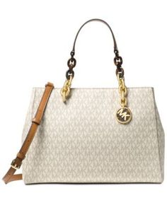 6cf6927e1467 Michael Kors Signature Cynthia Medium Satchel & Reviews - Handbags &  Accessories - Macy's