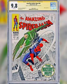In honor of Spiderman Homecoming we had to share this GEM    of a book with you and one of our all time favorite covers. The Amazing Spider-Man Issue 64 CGC Signature Series 9.8 signed by Stan The Man Lee & Legendary cover artists John Romita. This is believed to be the only one in existence with white pages that is double signed. The proud owner of this book is our friends over @SonnysComicsAndCollectibles and the book is available for sale. Please give them a follow for more updates on new…