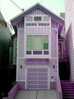 Purple houses for you & me. No wait that's pink houses