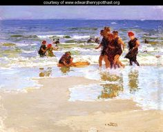 At the Seashore - Edward Henry Potthast - www.edwardhenrypotthast.org
