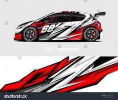 Portfolio di foto e immagini stock di zoulgrpc_wrap05 | Shutterstock Racing Stickers, Car Stickers, Car Decals, Honda Accord Custom, Vinyl Wrap Car, Racing Car Design, Design Vector, Drift Trike, Honda Fit
