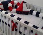 Nautical Bedroom, Baby Bedroom, Kids Bedroom, Sailor Room, Bed Bumpers, Cot Sheets, Baby Crafts, Crib Bedding, Baby Sewing