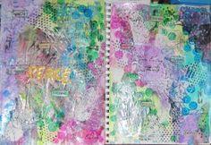 Hands. Art Journal spread.