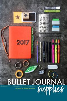 It's almost the end of the month! Thinking of starting a new journal?? Here are some of the supplies I love to use with mine:
