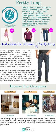 Find #men #tall clothing at Prettylong.com. You can choose latest and trendy Jackets, #Pants, #Officewear, #Shorts, #Jeans etc online.