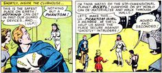 Phantom Girl joins. From Superboy #147 (1968). Art by Pete Costanza.