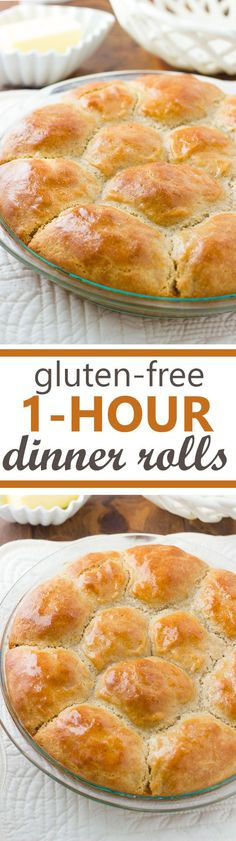 Gluten-Free 1-Hour Pull-Apart Dinner Rolls! Buttery, pillowy soft and on your table in 1 hour!