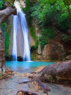 Neda waterfall in Greece Places To Travel, Places To See, Wonderful Places, Beautiful Places, Mountain Waterfall, Rio, Need A Vacation, All Nature, Beautiful Waterfalls