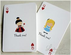 Thank You Note . Tiny Alice in Wonderland . by by LoraleeLewis, $24.00