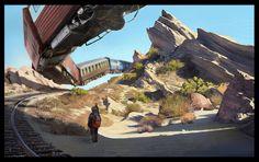 Vasquez Rocks Landscape Painting by KangJason on deviantART