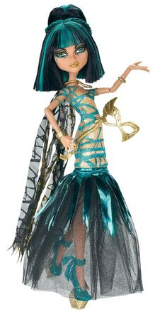 Monster High Cleo de Nile Ghouls Rule.  GRS says:  I love her!  Look at that hair colour.  Super stuff