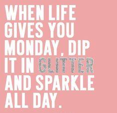 A little glitter makes everything better. Happy Monday! xo @ambiance_spa #MotivationMonday