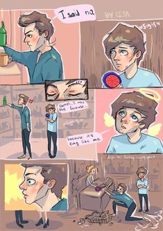 One Direction Cartoons, One Direction Videos, One Direction Imagines, I Love One Direction, Direction Quotes, 1d Imagines, Larry Stylinson, Rose And Dagger, Larry Shippers