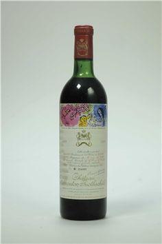 Château Mouton-Rothschild 1970  Pauillac, 1er cru classé Label designed by #Chagall #wine