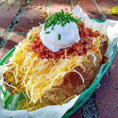 stuffed baked potato, Disneyland Harbor Cafe