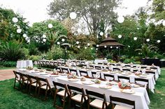 Garden Wedding Reception.