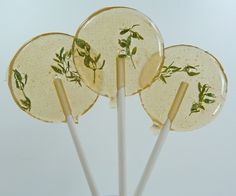 Mmmm all natural Orange Blossom Thyme lollipops!