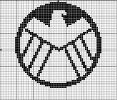 Geekie Crafts Strategic Hazard Intervention Espionage Logistics Directorate (S.H.I.E.L.D.) Cross Stitch