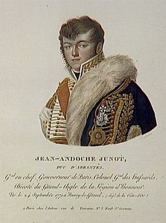 Jean-Andoche Junot (1771-1813) first met Napoleon during the Siege of Toulon in 1793 when he became his secretary. He distinguished himself in the Italian campaign but received a serious head wound at Lonato.