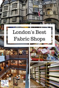 London's Best Fabric Shops – Fabric Hunting In The UK Step into two of my best picks for buying fabric in London. #LibertyLondon #berwickstreetclothshop #fabricrecomendations #fabrichuntingUK #soseweasy