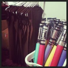 Padawan robes and light sabers for Star Wars Birthday party #starwars #birthday #party