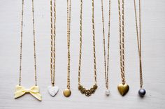 gold plated charm and bead -necklaces