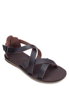Multi-Strap Buckle Sandals from ZALORA in brown_1
