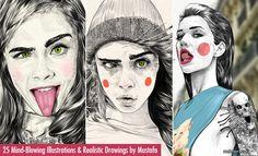 25 Creative Illustrations and Realistic Drawings by Mustafa Soydan. Read full article: http://webneel.com/illustrations-and-realistic-artworks-mustafa-soydan | more http://webneel.com/drawings | Follow us www.pinterest.com/webneel