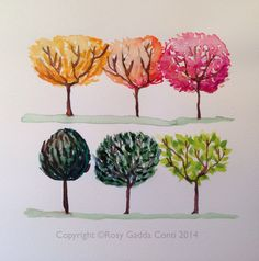 Trees. Watercolor. Rosy Gadda Conti