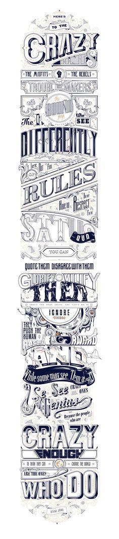 Steve Jobs Tribute Typographic Poster