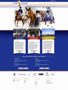 Website designed for dressage riders Caroline Roffman and Endel Ots. Coming soon!
