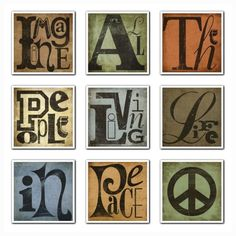 John Lennon Music Art Print  Imagine All The People by suzannaanna,