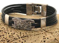 FREE SHIPPING Women's leather bracelet Handmade by eliziatelye, $26.00