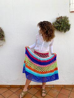 ¡¡Hola crocheter@s!! Ravelry, Rainbow, Crochet, Skirts, Pattern, Rain Bow, Rainbows, Patterns, Skirt