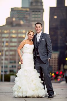 The #stunning, #happyascanbe #olascouple on their #weddingday! #Congrats, you two #lovebirds! ::Jill + Mike's gorgeous wedding at Saint Cecilia's in Boston, Massachusetts:: #weddingphotography #bostonskyline #bostonweddings #weddingday #mrandmrs #newlyweds #weddingfashion